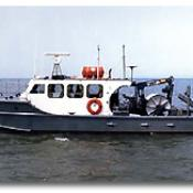 The soon to be replaced R/V Musky II, the smallest research vessel in the USGS fleet, was built in 1960.