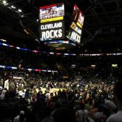 Cleveland Cavaliers game at he end of last season