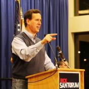 "Rick Santorum says the line between ""Romneycare"" and ""Obamacare"" is too thin for Republicans to trust."