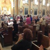 When the nuns stood up to be recognized, a nearly 4-minute ovation followed