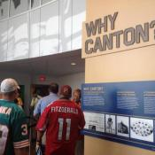 The new entryway to the Hall of Fame lays out the facts of why professional football is at home in Canton