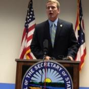 Ohio Secretary of State Jon Husted says Ohio voters can cast ballots from 8 a.m.-2 p.m., Sunday 1-5 p.m. and Monday 8 a.m.-2 p.m.