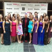 Suede and his bevy of models, most of whom are Kent State students