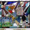 Pozarski uses both blown and fused glass in his stained glass windows.