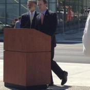 Cleveland Mayor Frank Jackson and Cuyahoga Executive Ed FitzGerald unveil a $350 million downtown plan.