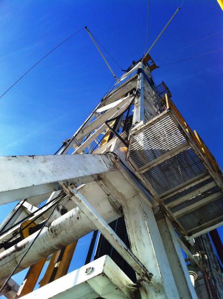 Drilling rig up close