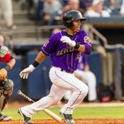 Francisco Lindor was drafted at age 17.  Now 19, he is a star shortstop at the AA Akron Aeros. 