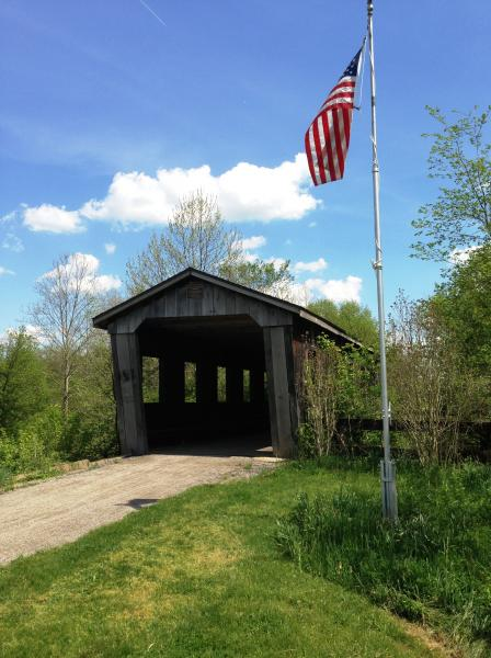 once a railroad, now a bike and hike trail