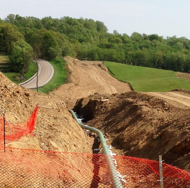 pipeline under construction in Carroll County