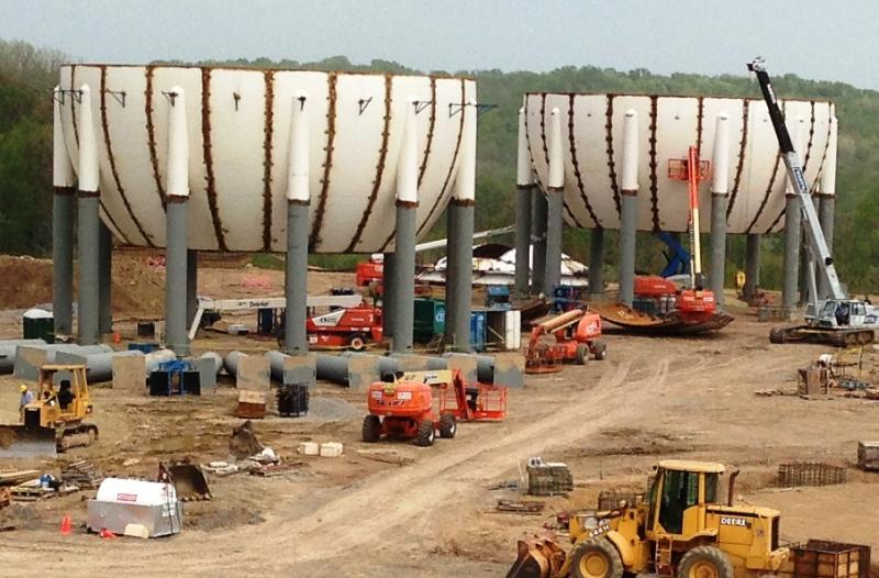 processing plant under construction near Scio