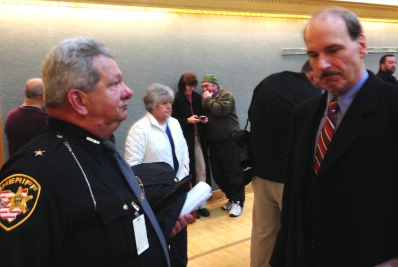 Sheriff Tim Swanson and Prosecutor John Ferrero