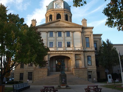 The Tuscarawas County Courthouse in New Philadelphia, Ohio