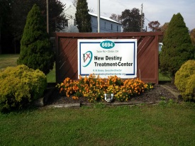 The New Destiny Treatment Center in Clinton, Ohio