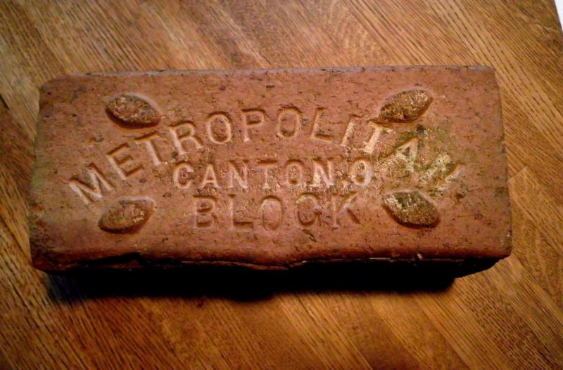 paving brick from early 20th century