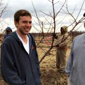 Matt and Chris Vodraska returned to their parents' orchard after completing their education.
