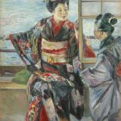 Maiko Girl, 1893. Kuroda Seiki (1866-1924). Oil on canvas;80.4x65.3cm. Tokyo National Museum, A-11258. Important Cultural Property.