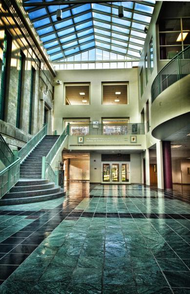 Interior Rockwell Hall photo by Lester Lefton