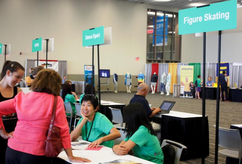 Thousands of athletes checked in for their sporting events at the Cleveland Convention Center over the weekend