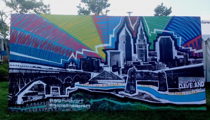 Another piece of art from the Graffiti Heart exhibit by Garrett Weider