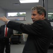 U.S. Sen. Sherrod Brown asked for assurances that the product will be made in Ohio, and got them.
