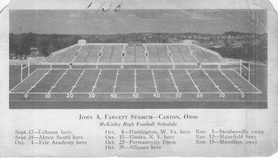 Historic picture of Fawcett Stadium in its early year