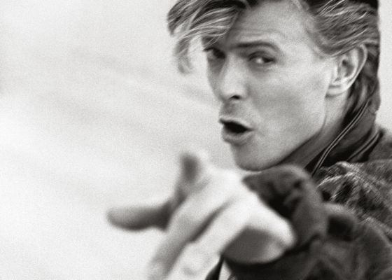david bowie is one of the dozens of artists featured in the photo and video exhibit herb ritts the rock portraits