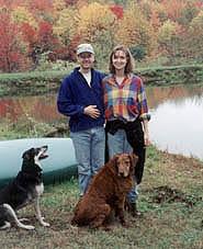 Paul Feezel and wife on their farm