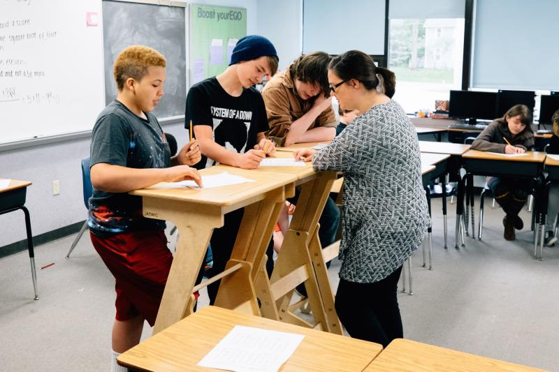 WKSU News Exploradio Stand up desks help kids learn on their feet