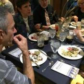 Dinner table discussion was lively and erudite, inspired by the food and beer as well as brief talks about the anthropology of food consumption and Near Eastern dining practices by professors in the university's Department of Anthropology and Classical Studies.